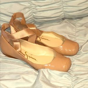Jessica Simpson beige ballerina shoes